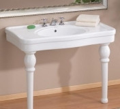 "Cheviot 727-WH-8 Grand Astoria 42"" X 23 Console Lavatory Sink With White Legs & 8"" Centers - White"
