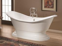 "Cheviot 2153w Regency 72"" Cast Iron Freestanding Tub With Pedestal Base - White"
