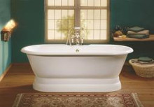"Cheviot 2139-w Regal 61"" Cast Iron Freestanding Tub With Pedestal Base - White"