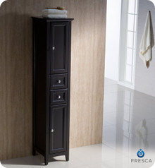 "Oxford FST2060ES Espresso Tall Bathroom Linen Cabinet -  15 3/4"" D x 68"" H x 14"" W"