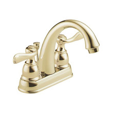 Delta B2596LF-PB Foundations Windemere Two Handle Centerset Lavatory Faucet - Polished Brass