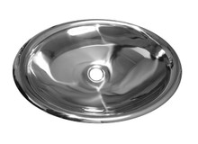 "Whitehaus WHNVE218 28"" Noah's Collection Bathroom Drop-in or Undermount or Vessel Sink - Mirrored Stainless Steel"