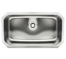 "Whitehaus WHNU2918REC 30 1/2"" Noah's Collection Single Bowl Undermount Kitchen Sink - Brushed Stainless Steel"
