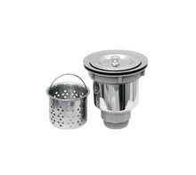 "Whitehaus NRNW35A 3 1/2"" Kitchen Sink Basket Strainer With Deep Removable Basket - Stainless Steel"