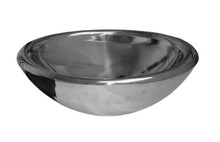 "Whitehaus WHNVE217 21 1/2"" Noah's Collection Noah's Bath Double Layer Above Mount Vessel Sink - Mirrored Stainless Steel"