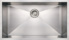 "Whitehaus WHNCM3219 32"" Noah's Collection Commercial Single Bowl Undermount Kitchen Sink - Brushed Stainless Steel"