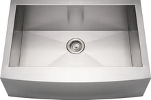 "Whitehaus WHNCMAP3021 30"" Noah's Collection Commercial Single Bowl Apron Kitchen Sink with Arched Front - Brushed Stainless Steel"