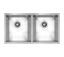 "Whitehaus WHNC2917 29"" Noah's Collection Chefhaus Double Bowl Undermount Kitchen Sink - Brushed Stainless Steel"