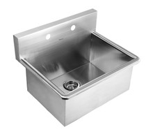 "Whitehaus WHNC2520 25"" Noah's Collection Commercial Drop-in Laundry / Scrub Sink - Brushed Stainless Steel"