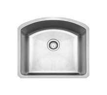 "Whitehaus WHNC2321 Noah's Collection Chefhaus Single Bowl Undermount Kitchen Sink 23 1/4""  - Brushed Stainless Steel"