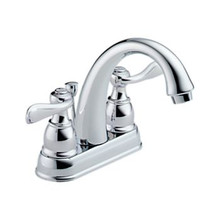 Delta B2596LF Foundations Windemere Two Handle Centerset Lavatory Faucet - Chrome