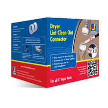 """Dundas Jafine DC4ZW 4"""" Dryer Lint Duct Connector - Allows Access to Easy Cleanup"""