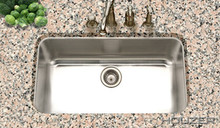 "Hamat ENTERPRISE 31 1/2"" x 17 7/8"" Large Single Bowl Undermount Kitchen Sink - Stainless Steel"