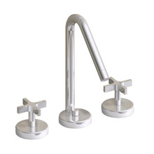 Whitehaus WH832148 Metrohaus Two Cross Handle Widespread Lavatory Faucet & Pop-up Drain - Chrome