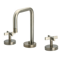 Whitehaus WH83214 Metrohaus Two Cross Handle Widespread Lavatory Faucet & Pop-up Drain - Chrome