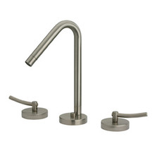 Whitehaus WH81214 Metrohaus Two Handle Widespread Lavatory Faucet With 45-degree Spout & Pop-up Drain - Chrome