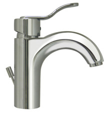 Whitehaus 3-04040C Wavehaus Single Handle Lavatory Faucet With Pop-up Drain - Chrome