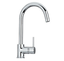 Whitehaus WHLX78572 Luxe Single Hole/Single Lever Faucet With Gooseneck Spout - Chrome