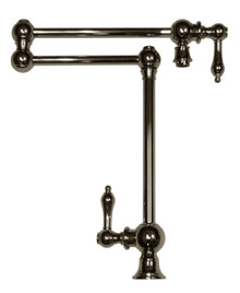 Whitehaus WHKPFDLV3-9555 Vintage Iii Deck Mount Pot Filler With Lever Handles & Swivel Aerator - Chrome