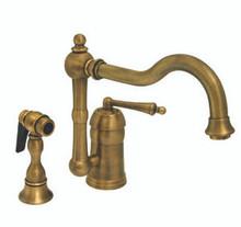 Whitehaus 3-3190 Legacyhaus Single Handle Kitchen Faucet & Side Spray - Chrome