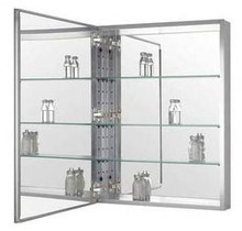 "Zenith MRA2026 20"" W x 26"" H Premium Frameless Swing Door Medicine Cabinet with Beveled Mirror"