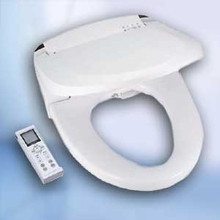 Blooming Bidet NB-R1063-RW White Round Bidet Toilet Seat with Remote - Hygiene - Instant Heat