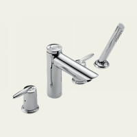 Delta Grail T4785 Two Handle Roman Tub Faucet Trim With Hand Shower -  Chrome