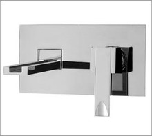 Aquabrass 77329PC Wall Mount Lavatory Faucet - Chrome
