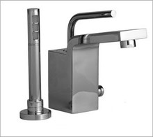 Aquabrass Hey Joe 28074PC Single Handle Roman Tub Faucet & Handshower - Deck Mount - Chrome