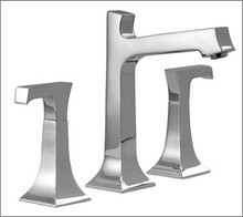 Aquabrass Bridge 33016PC PC Two Handle Widespread Lavatory Faucet - Chrome