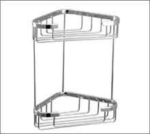 Aquabrass 2065BN Two Tier Triangle Shower / Tub Basket-Brushed Nickel