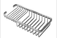 Aquabrass 2040BN Rectangular Shower / Tub Basket - Brushed Nickel