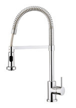 Aquabrass 30045PC Commercial Style Pull Down Kitchen Faucet - Chrome