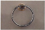 Aquabrass 507BN Towel Ring - Brushed Nickel