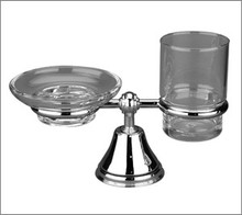 Aquabrass 416BN Soap Dish & Tumbler Holder - Brushed Nickel