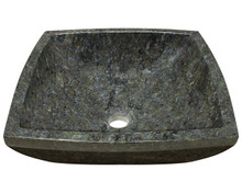 "Polaris P758 Granite Stone Vessel Sink 15 3/4"" Diameter - Buttefly Blue"