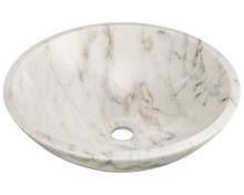 "Polaris P058W Granite Stone Vessel Sink 16 1/2"" Diameter x 5 1/2 Deep - White"