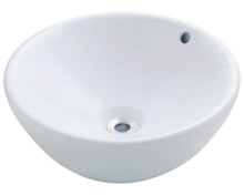 "Polaris P0022VW Porcelain Bathroom Vessel Sink 16 1/8"" W x 16 1/8"" L - White"