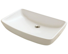 "Polaris P053VB Porcelain Bathroom Vessel Sink 23 1/2"" W x 14 3/4"" L - Bisque"