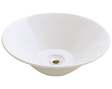 "Polaris P022VB Porcelain Bathroom Vessel Sink 17 1/8"" Diameter - Bisque"