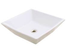 "Polaris P071VB Bisque Porcelain Bathroom Vessel Sink 16 1/8"" Diameter"