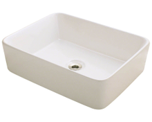"Polaris P041VB Bisque Porcelain Bathroom Vessel Sink 18 1/8"" W x 14 1/8"" L"