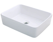 "Polaris P041VW White Porcelain Bathroom Vessel Sink 18 1/8"" W x 14 1/8"" L"