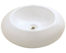"Polaris P09VB Bisque Porcelain Bathroom Vessel Sink 19 5/8"" Diameter"