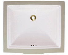 "Polaris P0542UB Bisque bisquit Rectangular Undermount Porcelain Bathroom Sink 21 1/2"" W x 18 3/8"" L biscuit"
