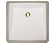 "Polaris P0322UB Bisque Rectangular Undermount Porcelain Bathroom Sink ÿ17"" W x 17  1/2"" L"