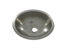 "Opella 17135.046 13"" x 10 1/2"" Oval Bar Sink - Undermount Or Drop-In - Brushed Stainless"
