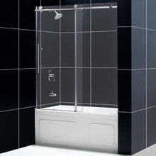 "DreamLine ENIGMA-X 56""-59"" x 62"" Fully Frameless Tub Door - Polished Stainless Steel - SHDR-61606210"
