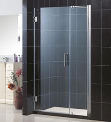 "DreamLine UNIDOOR Frameless 40""-41"" Adjustable Shower Door - Chrome Trim - SHDR-20407210"