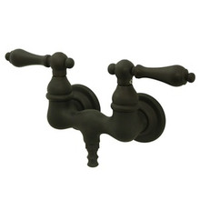 "Kingston Brass 3-3/8"" Wall Mount Clawfoot Tub Filler Faucet - Oil Rubbed Bronze CC31T5"